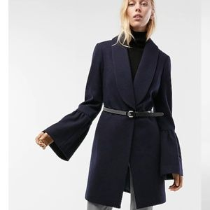 Bell Sleeve Shawl Collar Coat